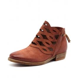 Dido Rust Leather By Miz Mooz At Styletread