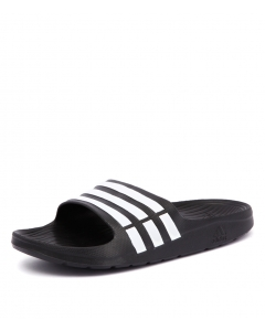 DURAMO SLIDE MEN'S BLACK WHITE SMOOTH