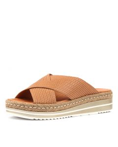 ADEEMUS TAN EMBOSSED LEATHER