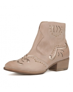 LUCILLES NUDE ROSE GOLD LEATHER