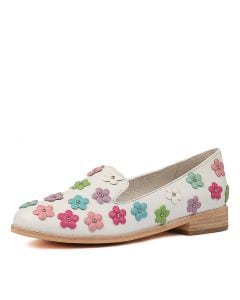 AMAYA WHITE GELATO MU LEATHER FLOWERS