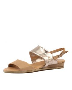 HARRIE DK TAN ROSE GOLD LEATHER