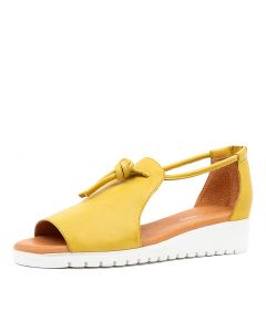 MELVIN LT YELLOW WHITE SOLE LEATHER