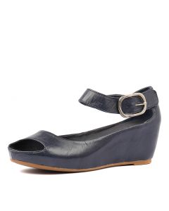 TISHIE NAVY OIL LEATHER