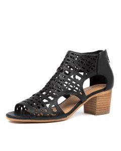 BORIS DJ BLACK NATURAL HEEL LEATHER