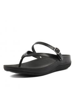 47f94d3c1 FITFLOP flip sandal black leather