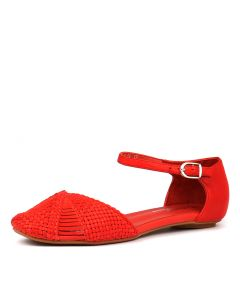 ELSA RED LEATHER