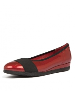 FARROW RED BLACK PATENT ELASTIC
