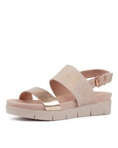 BEVERLY ROSE GOLD NUDE SHINE LEATHER L