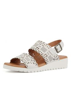 FLOY WHITE CUT LEATHER