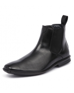 CHELSEA EXTRA WIDE BLACK LEATHER