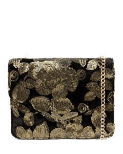 KANYE BAG IL OLD GOLD SEQUIN VELVET