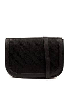 QUEM BAG IL BLACK EMBOSSED SMOOTH