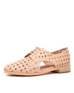 QUIBILAH NUDE EMBOSSED LEATHER