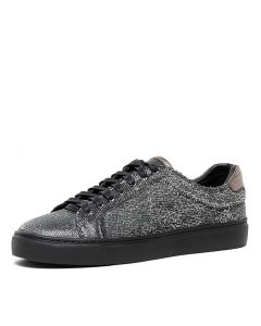 OQUEEN BLACK PEWTER CUT LEATHER LEATHER