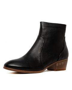 SALTA BLACK NATURAL HEEL LEATHER