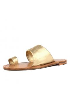 NERO T B GOLD METALLIC NAPPA LEATHER