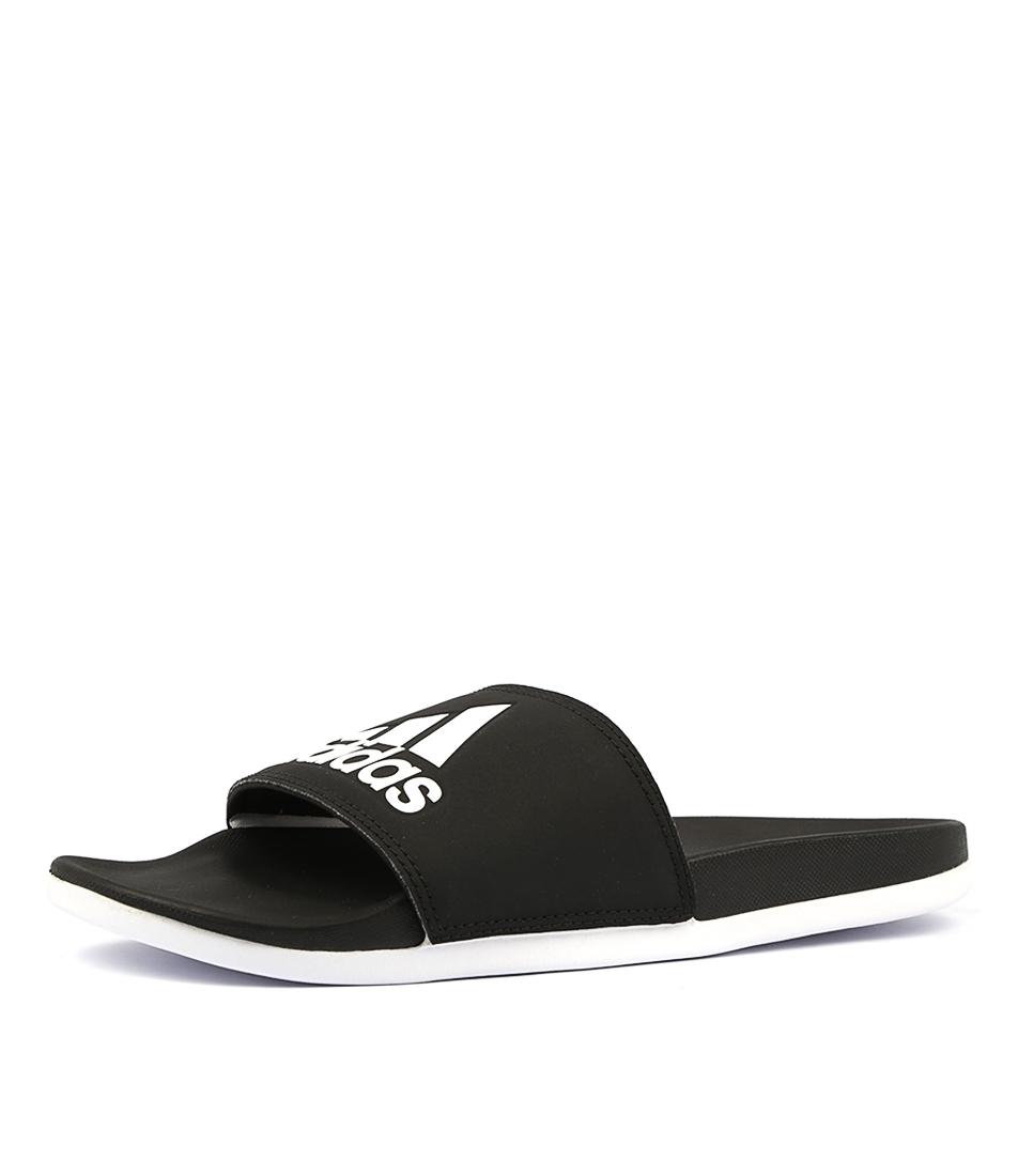 new styles ecac8 13dda ADILETTE COMFORT W BLACK WHITE SMOOTH by ADIDAS - at Styletread