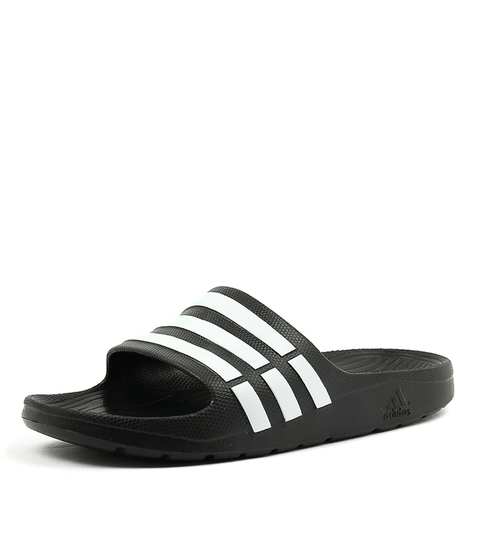 a4a4c2195e29c DURAMO SLIDE W BLACK WHITE SMOOTH by ADIDAS - at Styletread NZ