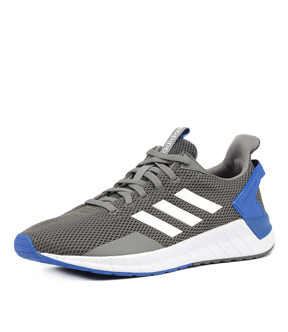 online retailer f72c1 6e327 QUESTAR RIDE MENS GREY WHITE GREY SMOOTH by ADIDAS NEO - at