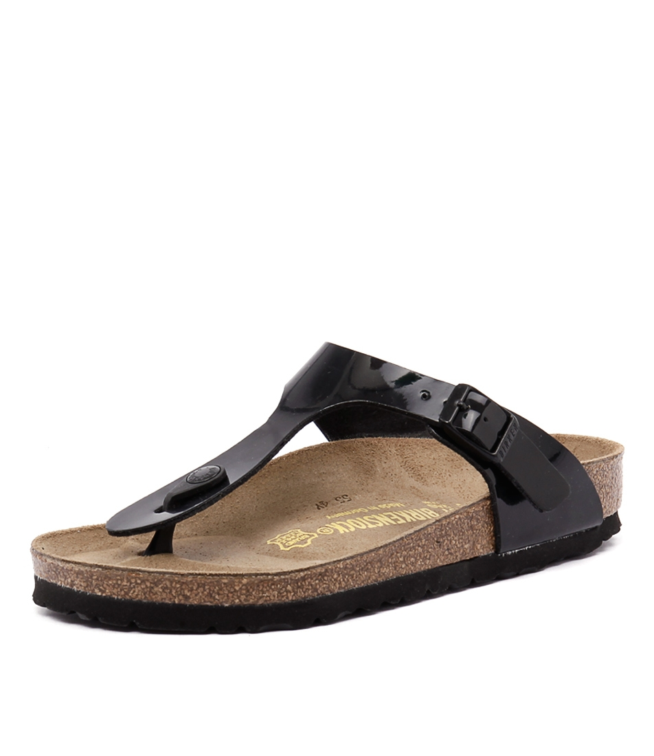 d84a87d0f GIZEH BLACK PATENT SYNTHETIC by BIRKENSTOCK - at Styletread