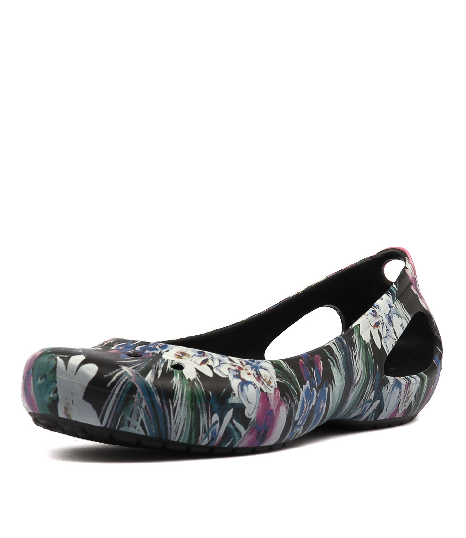 931904e5948081 KADEE GRAPHIC FLAT TROPICAL SMOOTH by CROCS - at Styletread