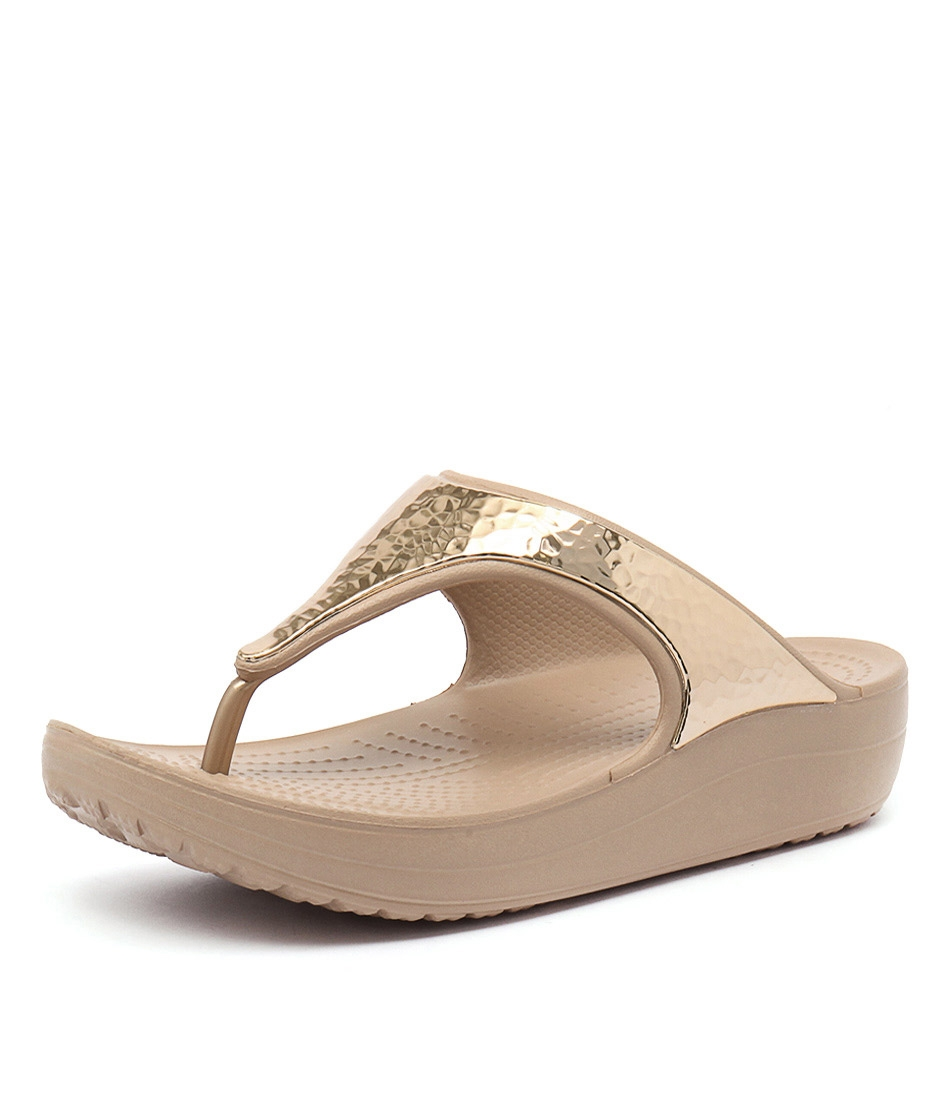 38fb920bc316 SLOANE EMBELLISHED FLIP GOLD METALLIC SMOOTH by CROCS - at Styletread