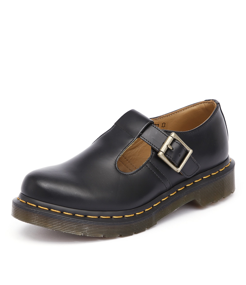 42d3172361a0 POLLEY MARY JANE BLACK SMOOTH LEATHER by DR MARTEN - at Styletread