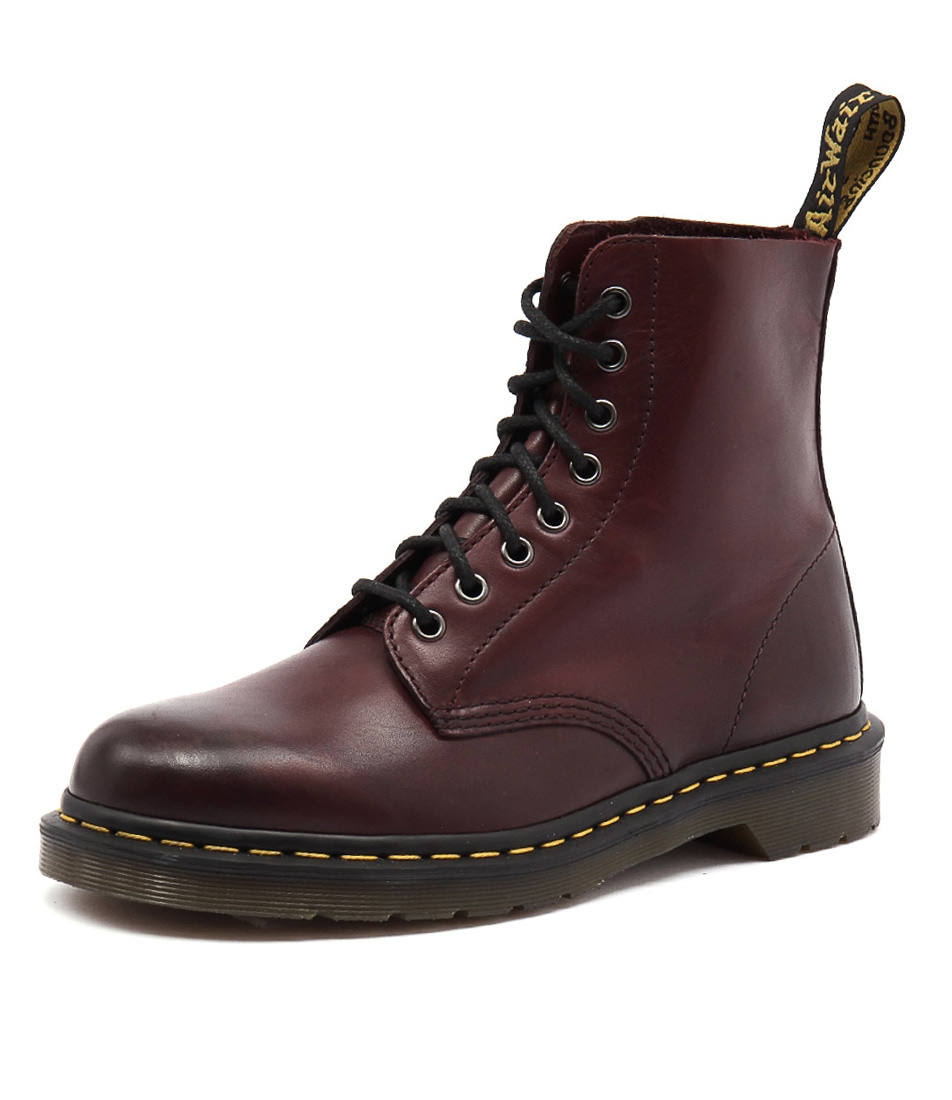 aa0b289d1b749 PASCAL 8 EYE BOOT MEN'S CHERRY RED LEATHER by DR MARTEN - at Styletread NZ