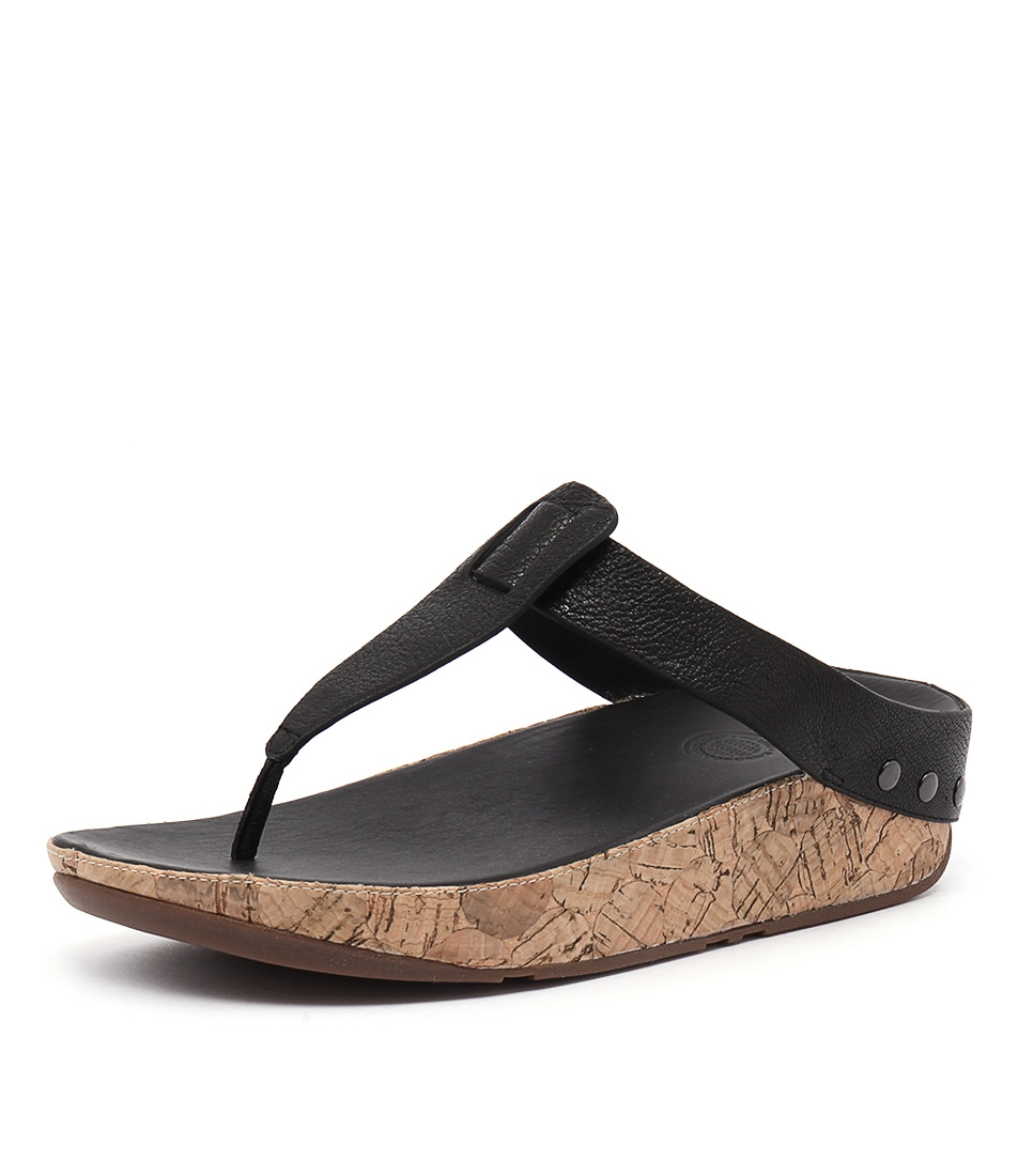 9e073161e003 IBIZA CORK BLACK LEATHER by FITFLOP - at Styletread