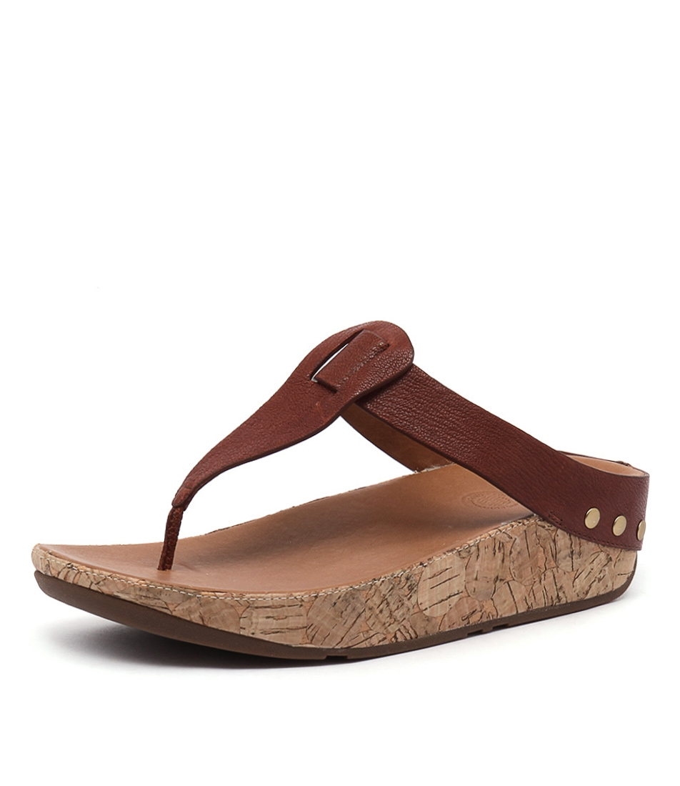 e433a5504add67 IBIZA CORK DARK TAN LEATHER by FITFLOP - at Styletread