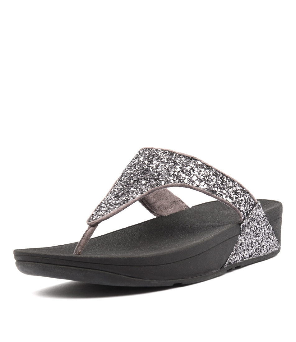 d5e9deda044202 GLITTERBALL TOE POST PEWTER LEATHER by FITFLOP - at Styletread