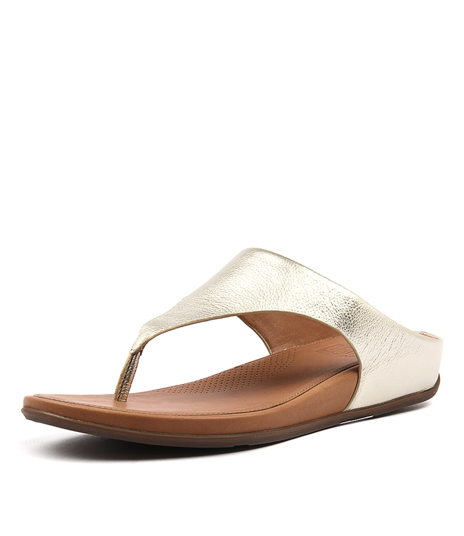 c8229efa9 BANDA PALE GOLD LEATHER by FITFLOP - at Styletread