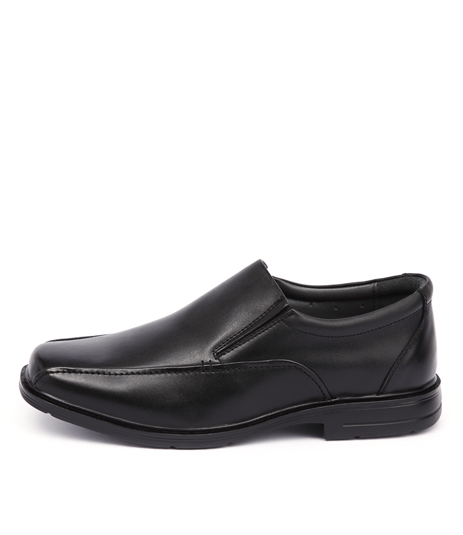 01a16f68053 RANDWICK EXTRA WIDE BLACK LEATHER by HUSH PUPPIES - at Styletread