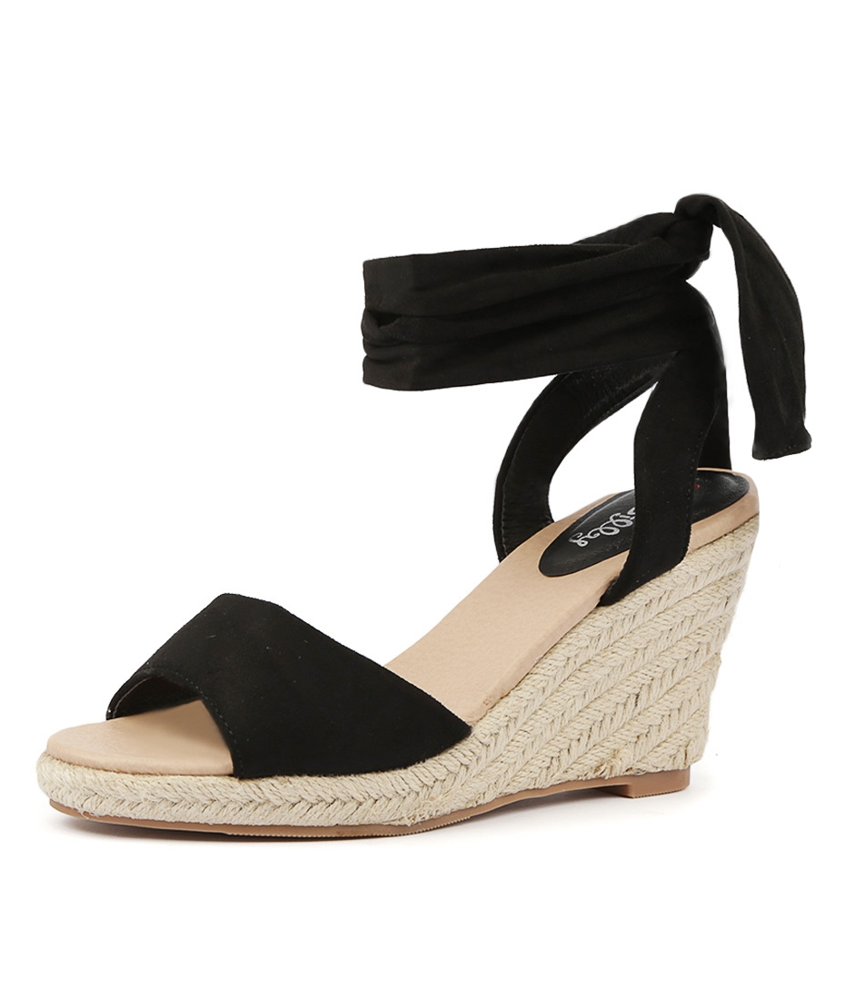 05d21944f11b3 WILFORD BLACK MICROSUEDE by I LOVE BILLY - at Styletread