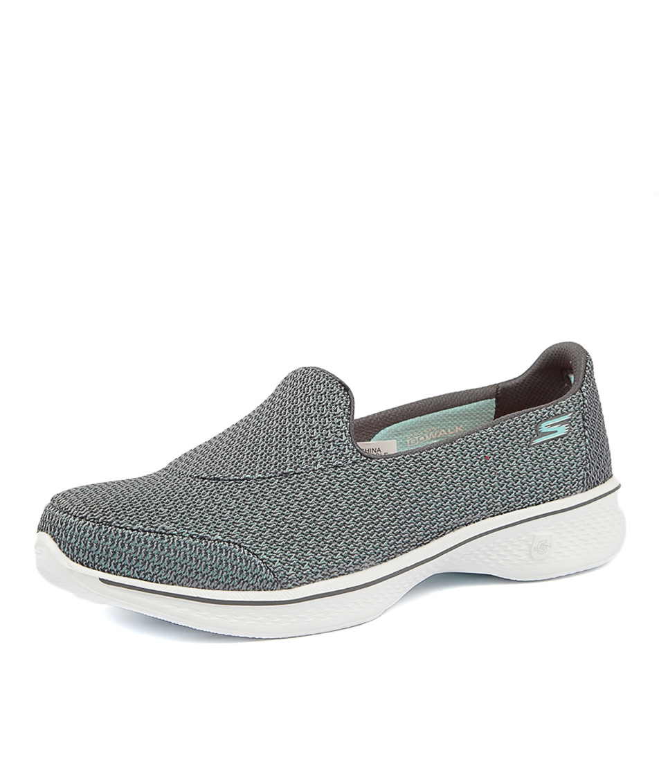 1a9280f225e7 14900 GO WALK 4 MAJESTIC GREY SMOOTH by SKECHERS - at Styletread