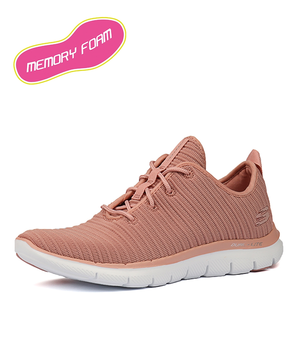 ba635f459f5c 12899 FLEX APPEAL 2.0 ESTATES ROSE MESH by SKECHERS - at Styletread