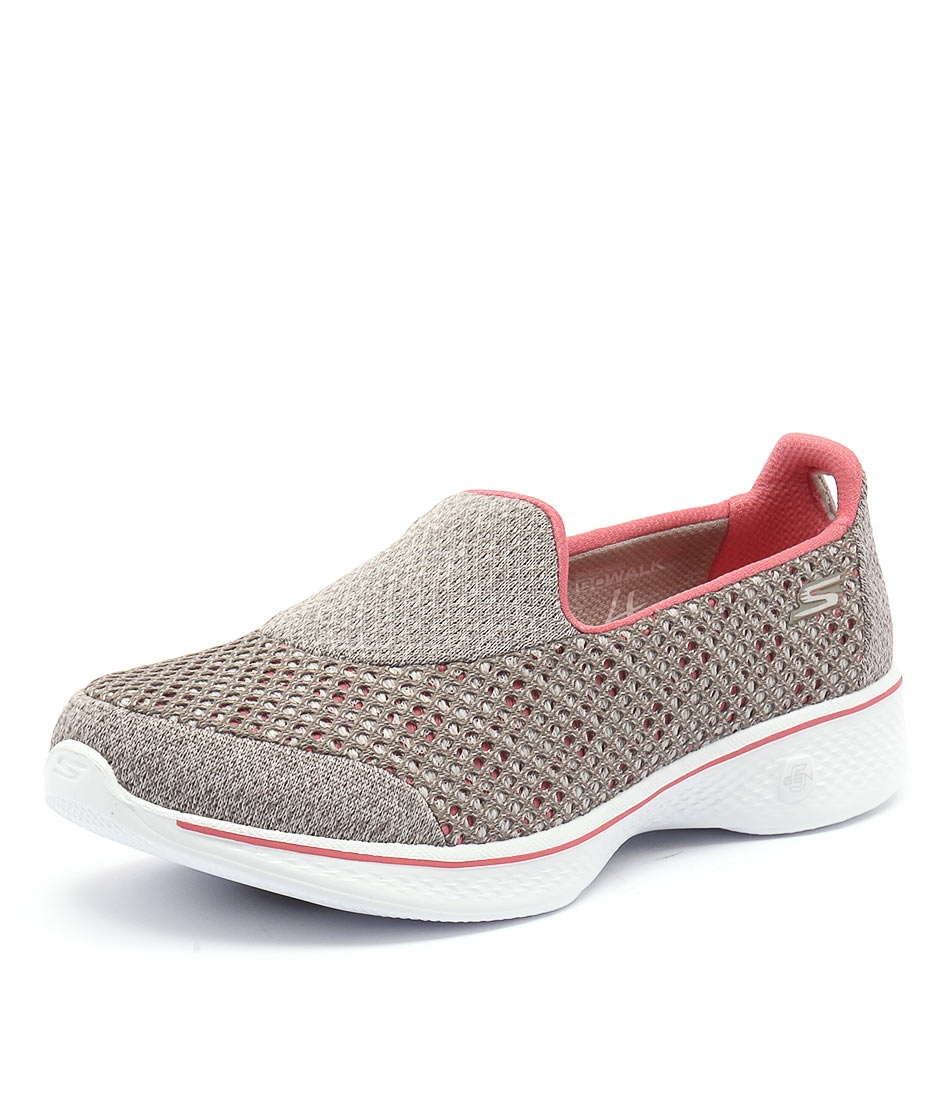 14145 GO WALK 4 KINDLE SLIP ON TAUPE CORAL SMOOTH by SKECHERS - at  Styletread 3446272bec