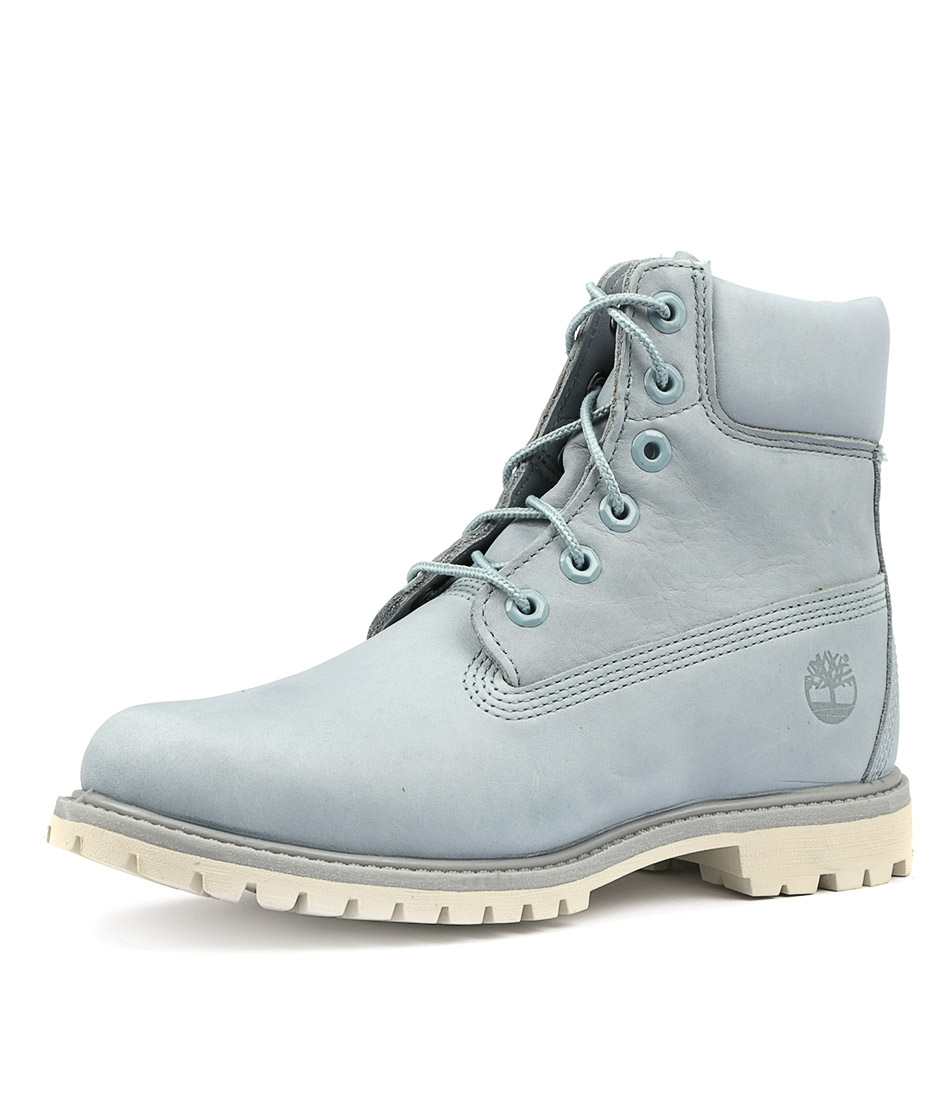 big discount new images of hot product 6 premium icon boot women's light blue leather