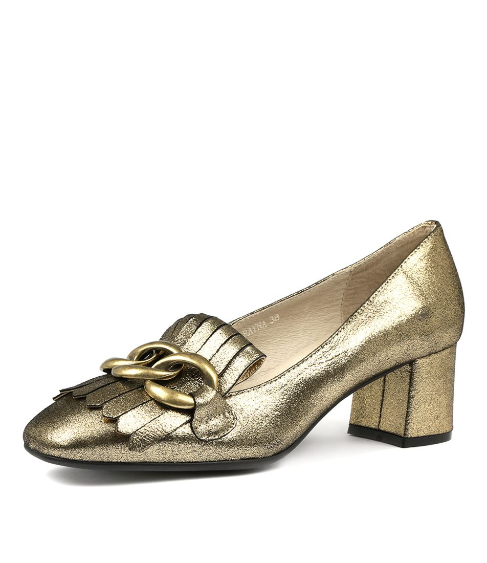 b7f0965cb9f1 RAYNA GOLD LEATHER by TOP END - at Styletread