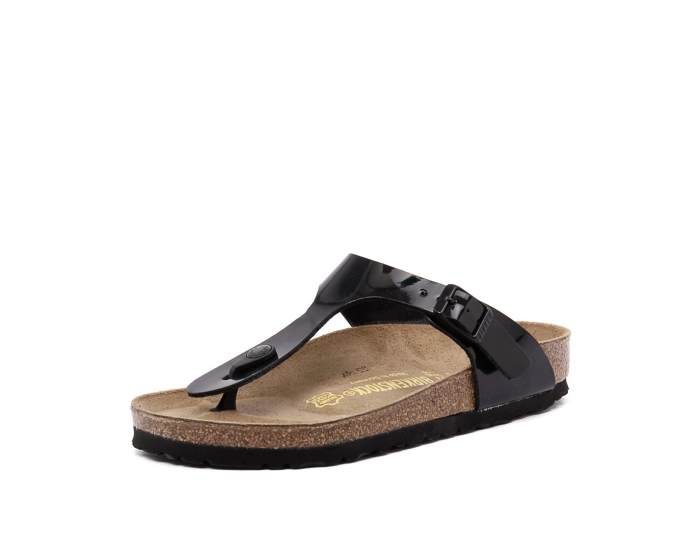 f116db49ab4 GIZEH BLACK PATENT SYNTHETIC by BIRKENSTOCK - at Styletread