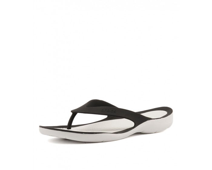 fe8d62fb80120a SWIFTWATER FLIP WOMEN S BLACK WHITE SMOOTH by CROCS - at Styletread