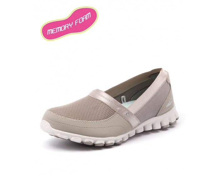 4f390afb3d78 22258 EZ FLEX TAUPE by SKECHERS - at Styletread