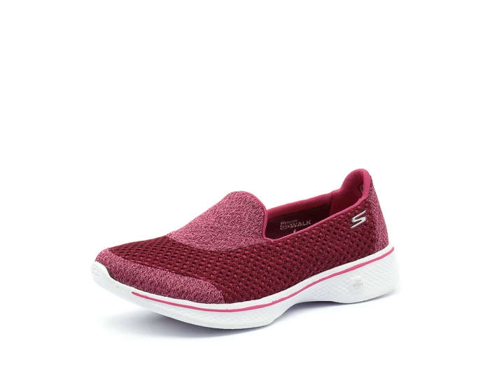 b0e134613ccc 14145 GO WALK 4 KINDLE SLIP ON RASPBERRY SMOOTH by SKECHERS - at Styletread