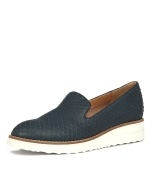 OLUS NAVY CUT LEATHER