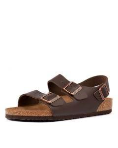 529ef09dae27 BIRKENSTOCK milano bk dark brown leather